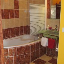 Chambre d'hôtes, les Centauris, Clévacances, Pléguien, espace salle de bain dans la chambre Orientale - Chambre d'hôtes - Pléguien