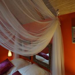 détails de la chambre l'Indonésienne, les Centauris, chambre d'hôtes falaises d'armor - Chambre d'hôtes - Pléguien