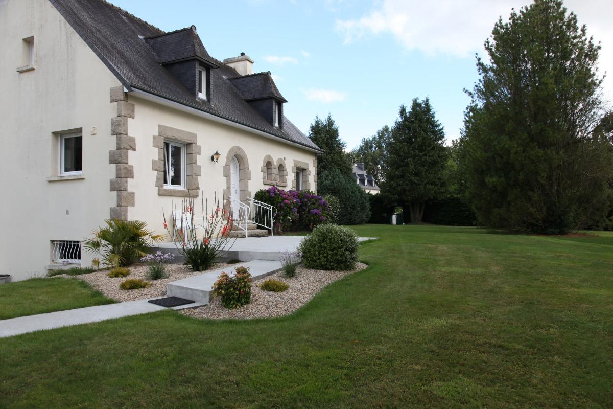 terrasse Ouest - Location de vacances - Plouisy