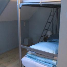 Gîte Al Lenevez, Gaspar, Bringolo, petite chambre avec lits superposés - Location de vacances - Bringolo