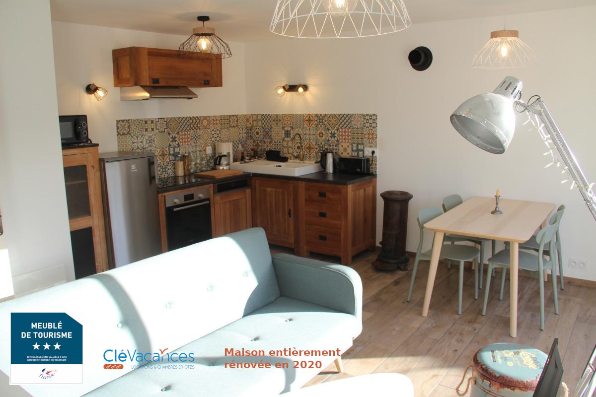 Troadec Clévacances espace salon salle à manger cuisine - Location de vacances - Trévou-Tréguignec