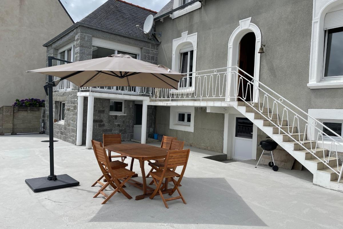 Collin, Clévacances, location Pors Even-Ploubazlanec, vue panoramique sur la mer depuis le salon - Location de vacances - Ploubazlanec
