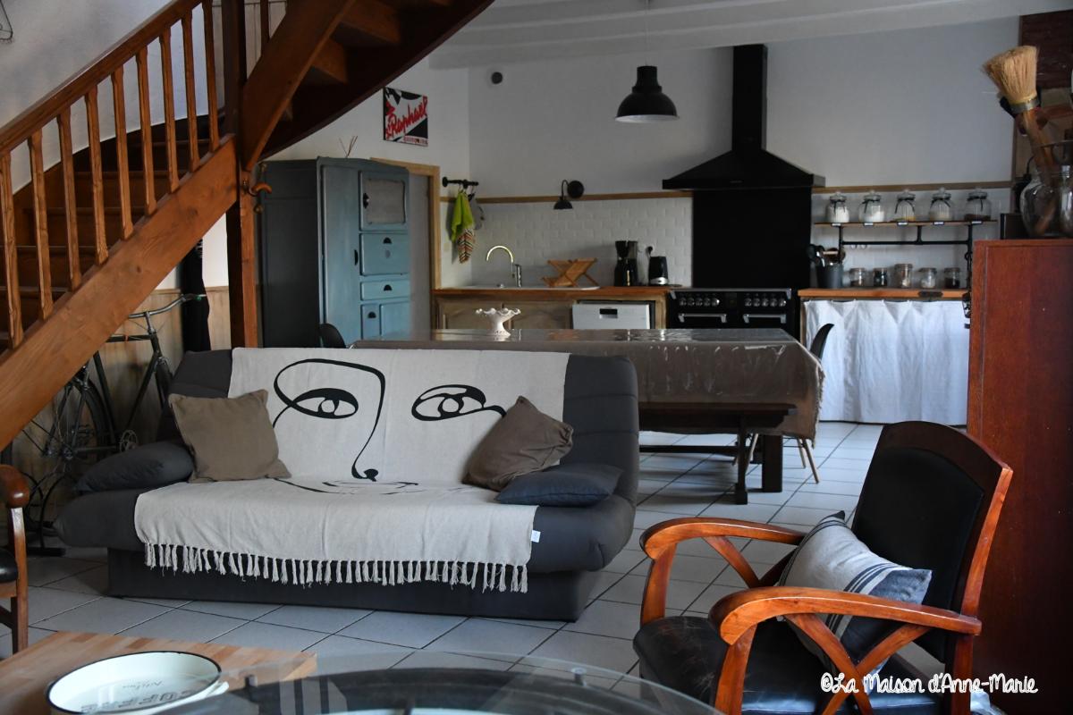 La pièce à vivre - Location de vacances - Saint-Clet
