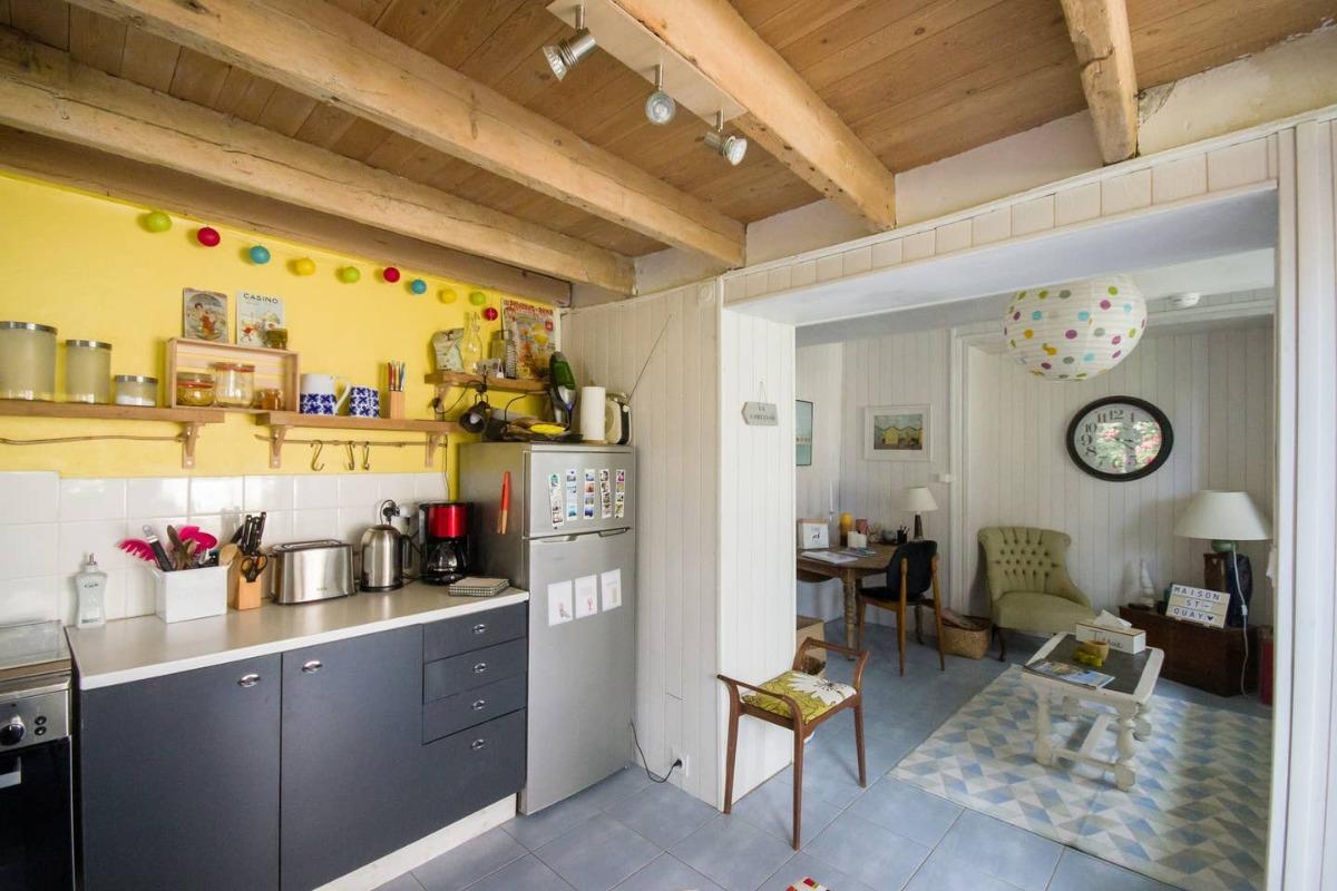 MaisonSaintQuay cuisine ouverte sur séjour - Location de vacances - Saint-Quay-Portrieux