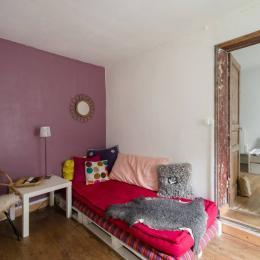 MaisonSaintQuay Salle TV à l'étage communicante avec la chambre 1 - Location de vacances - Saint-Quay-Portrieux