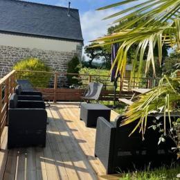 Terrasse privative ensoleillée  - Location de vacances - Louargat