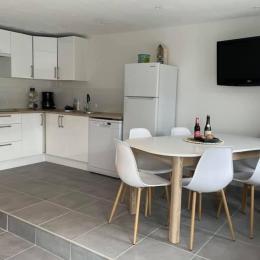 GAILLET, location de vacances, Clévacances, Louargat, étage chambre lit 140 - Location de vacances - Louargat