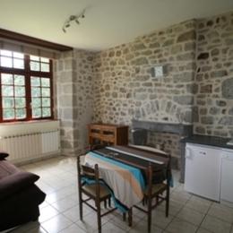 Vue depuis l'appartement  sur le parc du Château - Location de vacances - Mérinchal