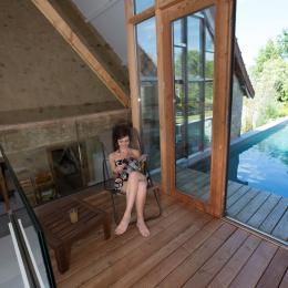Gîte Nonpareil avec piscine pour 10 personnes, à Peyrat la Nonière en Creuse  Solarium - Location de vacances - Peyrat-la-Nonière