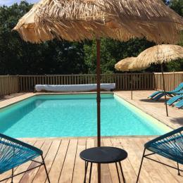 piscine privée et chauffée - Location de vacances - Valojoulx