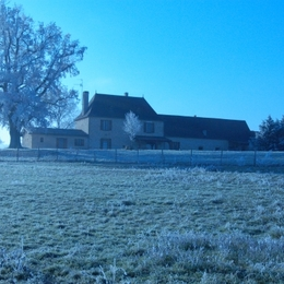 Vue d'ensemble de la propriété Coté Nord en hiver - Chambre d'hôtes - Saint-Agne
