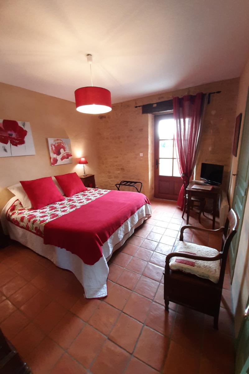 chambre Coquelicot - Chambre d'hôtes - Saint-Avit-Sénieur