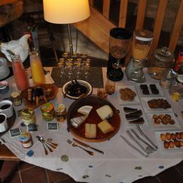 le petit déjeuner - Chambre d'hôtes - Valojoulx