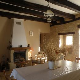 salon cheminée insert - Location de vacances - Tourtoirac