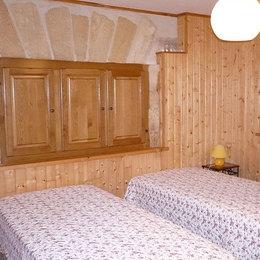 chambre exposition sud-ouest - lit de 140 - Location de vacances - Sarlat-la-Canéda