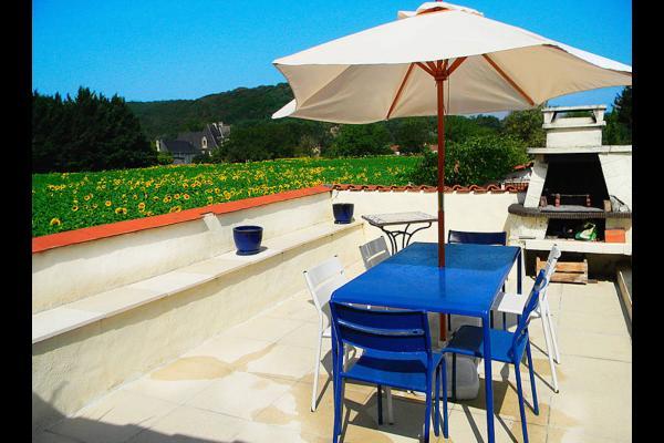 vue sur la campagne et les falaises - Location de vacances - Condat-sur-Vézère