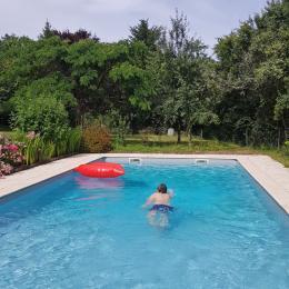 grande piscine clôturée de 5 x 10 m - Location de vacances - Issac