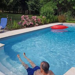 le jaccuzi intégré à la piscine - Location de vacances - Issac