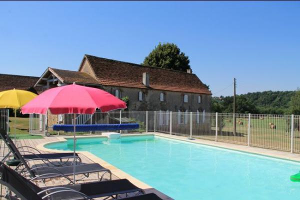 La Ferme des Pauties, la piscine privée - Location de vacances - Trémolat