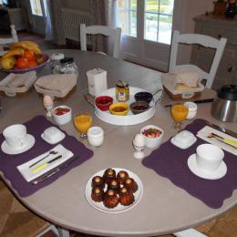 Copieux petit déjeuner - Chambre d'hôtes - Molières