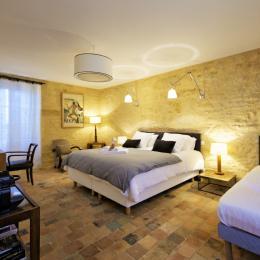 La chambre, qui peut accueillir jusqu'à 3 personnes - Chambre d'hôtes - Saint-Vincent-de-Cosse