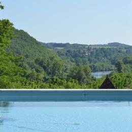 La vue depuis la piscine - Chambre d'hôtes - Saint-Vincent-de-Cosse