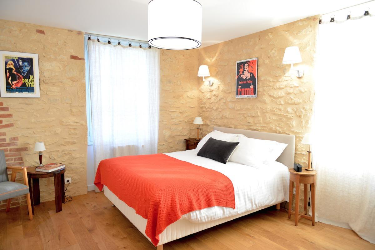 chambre Rome plein sud avec double vue - Chambre d'hôtes - Saint-Vincent-de-Cosse