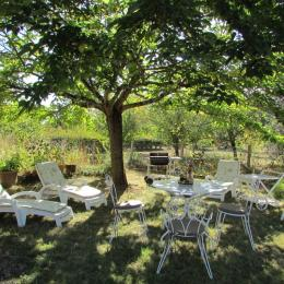 Coin détente dans le jardin - Location de vacances - Le Bugue