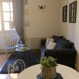 Appartement lauze salon/séjour - Location de vacances - Sarlat-la-Canéda