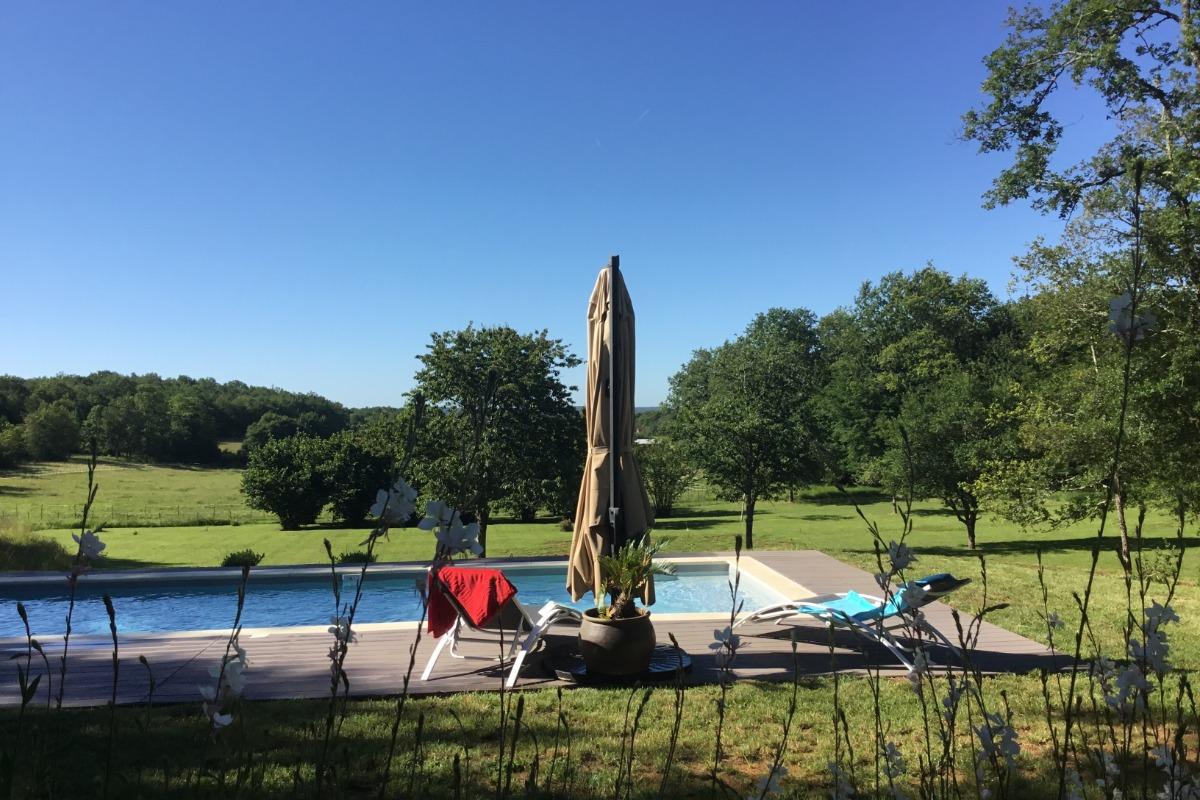 Gîte en Dordogne-Périgord avec piscine privée - piscine et jardin - Location de vacances - Mauzac-et-Grand-Castang