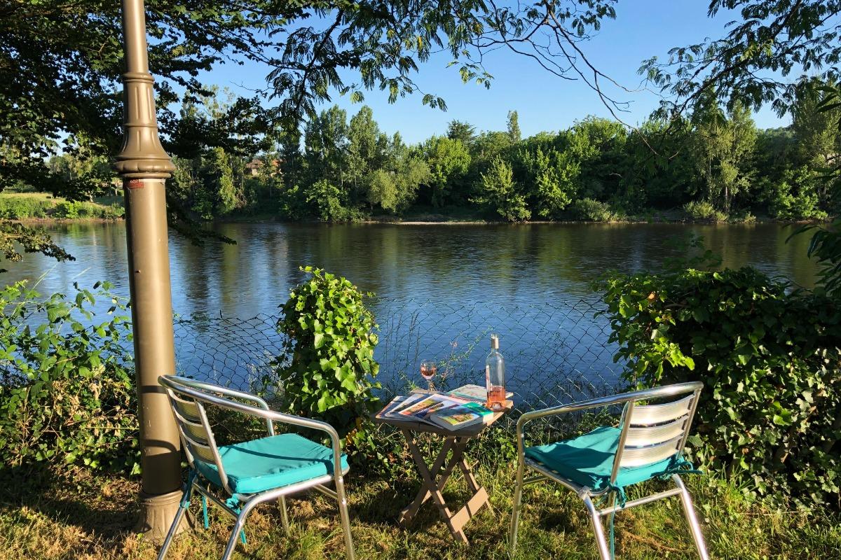 vue depuis la maison - Location de vacances - Saint-Antoine-de-Breuilh