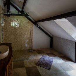 en suite salle de bain - Location de vacances - Auriac-du-Périgord