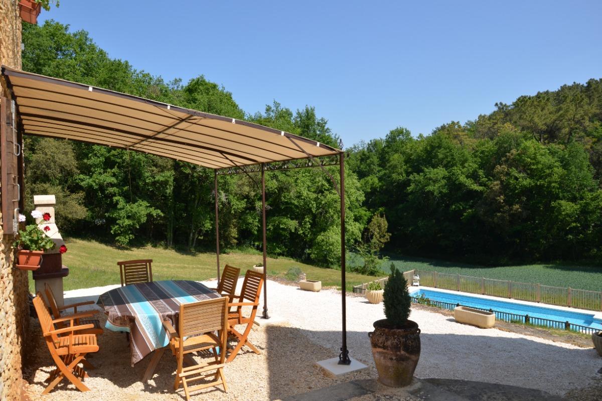 terrasse Le Cantou - Location de vacances - Proissans