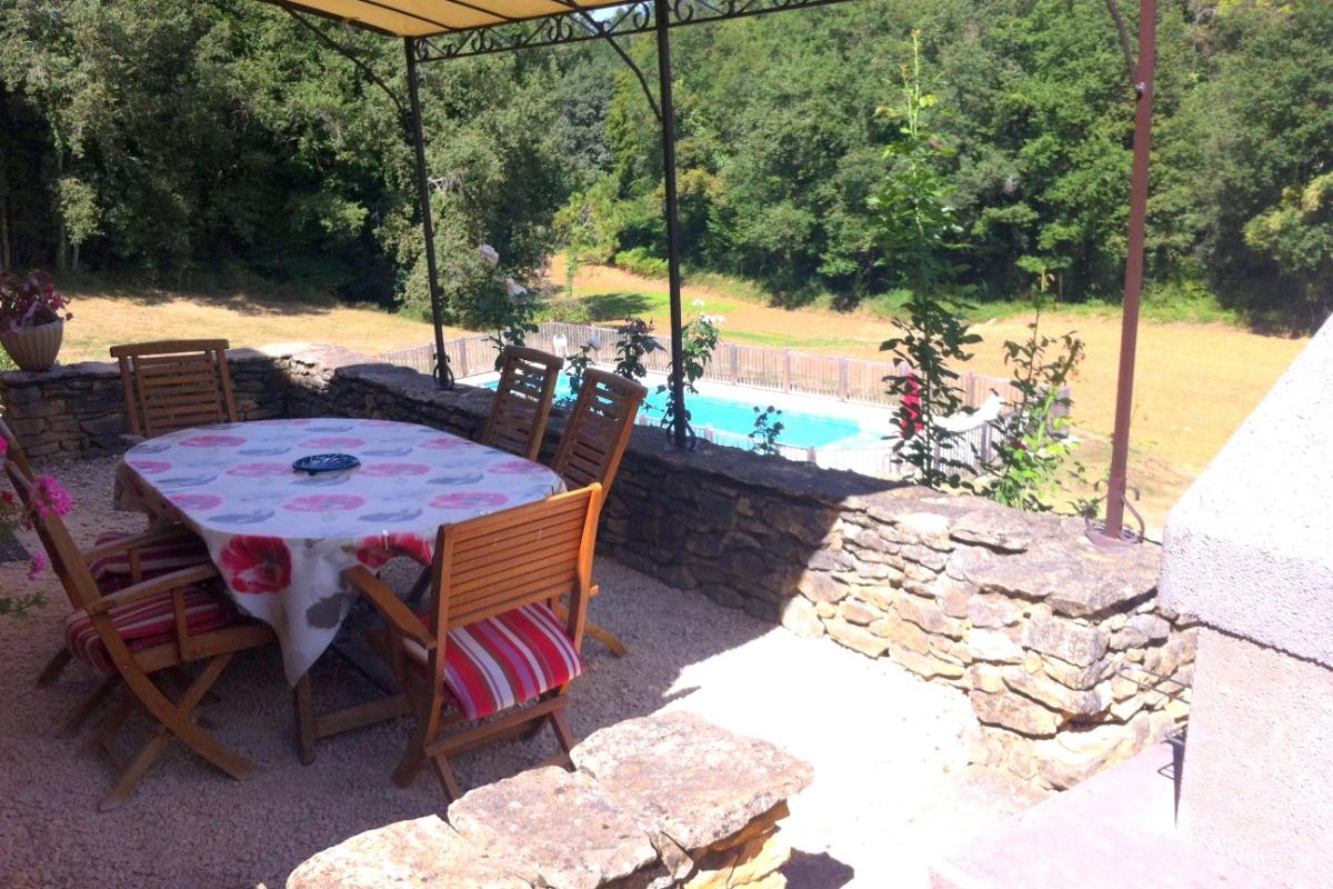 terrasse abritée - Location de vacances - Proissans