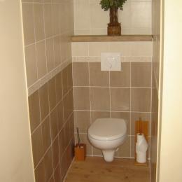 Les toilettes dans la chambre - Chambre d'hôtes - Saint-Privat-des-Prés