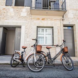 les vélos devant la maison (en supplément) - Location de vacances - Bergerac