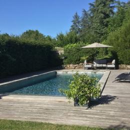 La Maison du Métayer. La piscine au sel, chauffée fait 11x4,5 m. - Location de vacances - Lamonzie-Montastruc