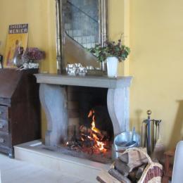 Chambres d'hôtes dans le Doubs - hall/cheminée - Chambre d'hôtes - Bremondans