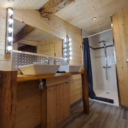Pièce sous forme de maison dans le séjour, équipée de micro-ondes, réfrigérateur,... - Chambre d'hôtes - Vellerot-lès-Vercel