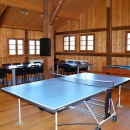 Salle de jeux avec ping-pong - Chambre d'hôtes - Fournet-Blancheroche
