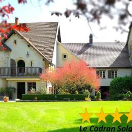 A gauche la maison des propriétaires, à droite les appartements. - Location de vacances - Sancey-le-Grand