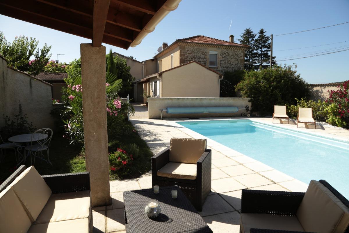 Maison Piscine et coin détente - Chambre d'hôtes - Montmeyran