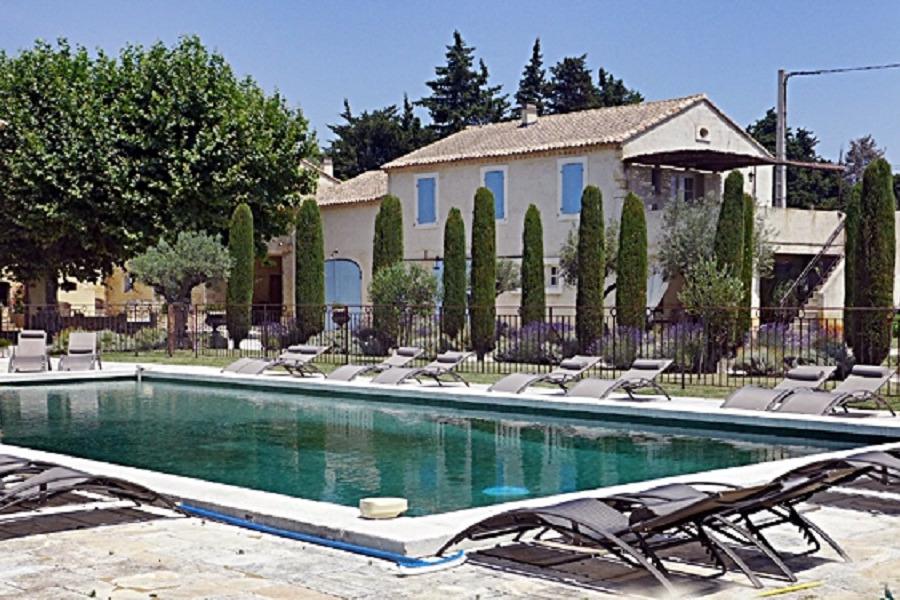 Piscine au Mas de César à Tulette en Drôme Provençale  - Location de vacances - Tulette