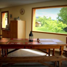 espace repas - Location de vacances - Châteaudouble