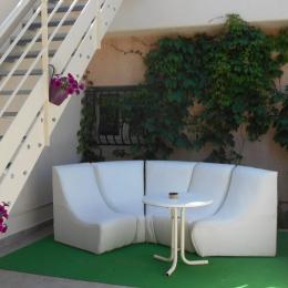 terrasse de la suite framboise - Chambre d'hôtes - Donzère