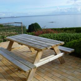 terrasse avec pleine vue sur mer - Location de vacances - Saint-Pol-de-Léon