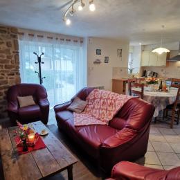 chambre RDC lit de  140 x 190 - Location de vacances - Saint-Jean-Trolimon