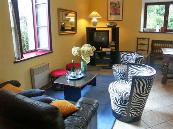 Salon de la maison La Cale - Location de vacances - Fouesnant