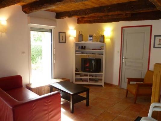 chambre  double 2 lits 1 personne à l'étage - Location de vacances - Moëlan-sur-Mer