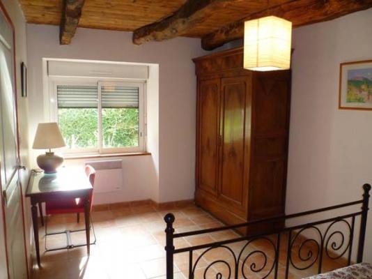 chambre 2 personnes à l'étage  lit  160X200  - Location de vacances - Moëlan-sur-Mer